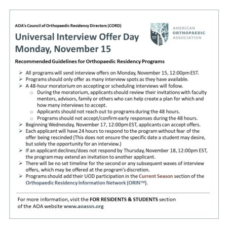 Universal Interview Offer Day Details